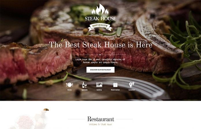 Steak House - food and drink #WordPress #theme designed with class for an elegant #food #website.