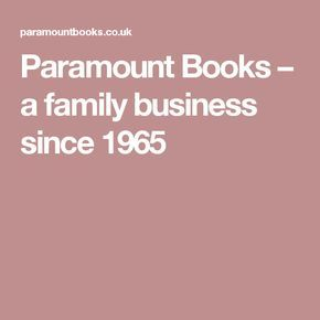 Paramount Books – a family business since 1965