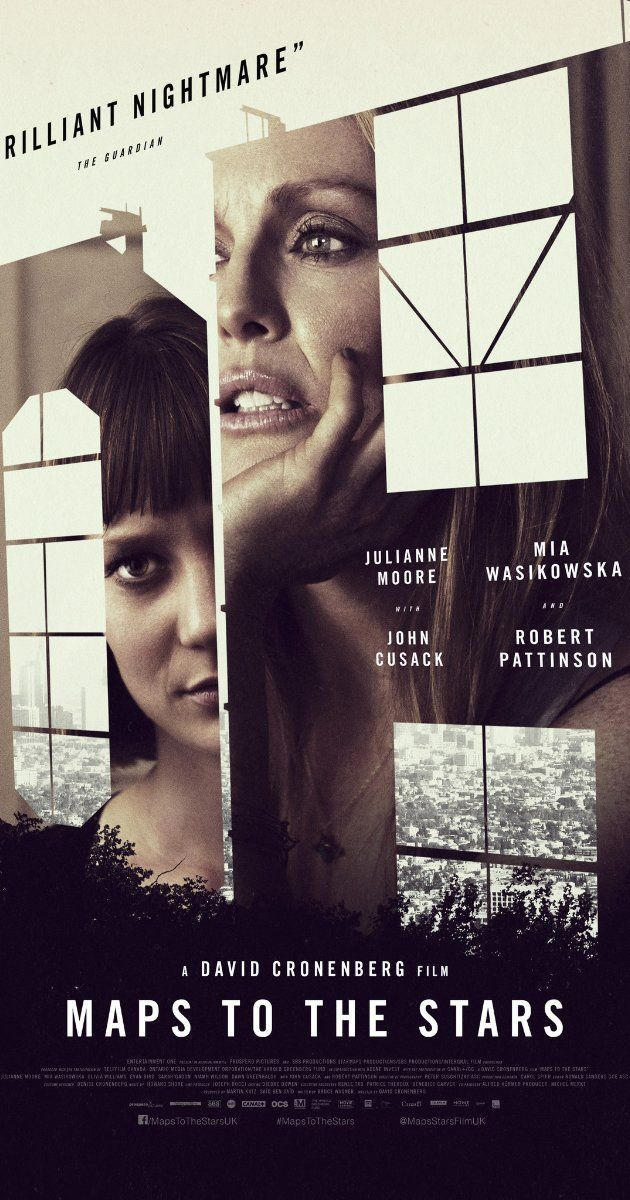 MAPS TO THE STARS. Twisted, Lynchian melodrama ...from Cronenberg. Dark and original, though possibly not enjoyable. 3.5 stars
