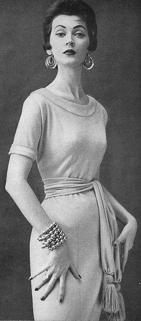 Dovima wearing Carolyn Schnurer 1953