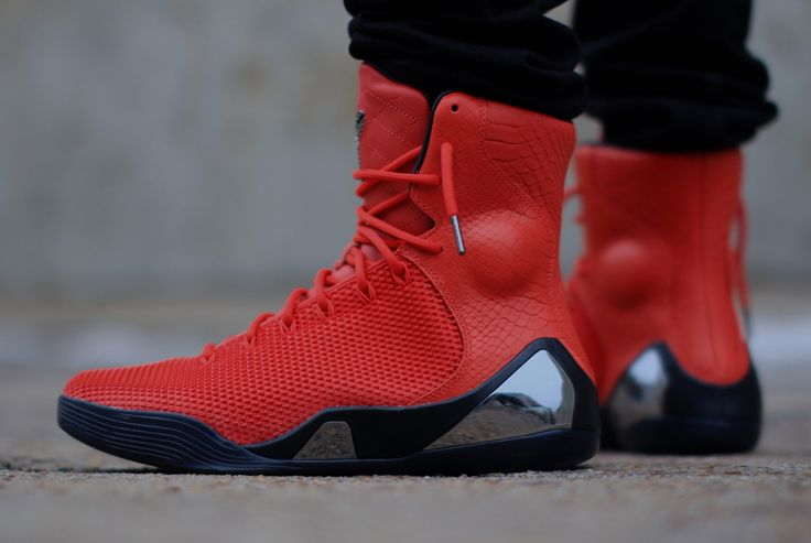 "Nike Kobe 9 EXT KRM ""Challenge Red"" - On-Feet Images - SneakerNews.com"