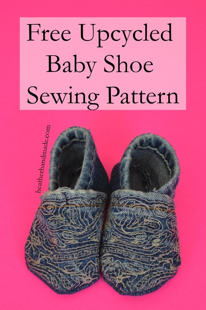 b89a05d999baa Upcycled Baby Shoes: FREE Pattern! | babies | Baby shoes pattern ...