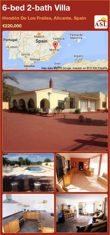 6-bed 2-bath Villa in Hondón De Los Frailes, Alicante, Spain ►€220,000 #PropertyForSaleInSpain