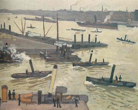 Albert Marquet - Port de Rotterdam (1914)