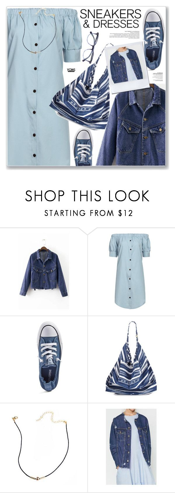 """""""LOVE YOINS"""" by nanawidia ❤ liked on Polyvore featuring Converse, La Blanca and Oliver Peoples"""