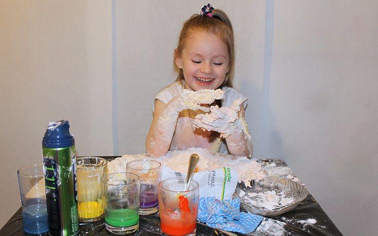 Играем пеной для бритья - Советы опытных мам - Дети Mail.Ru