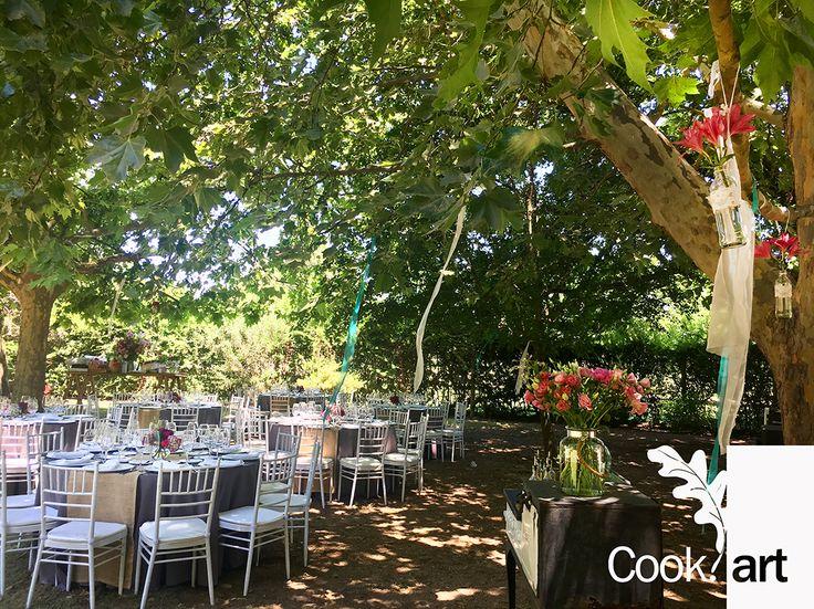 CasaEscondida en Talagante, delicioso almuerzo Cookart bajo los árboles