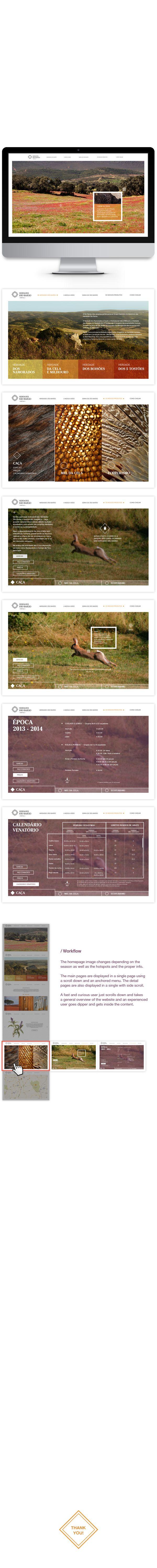 """Contest for the re branding and re design of the web site """"Herdades de São Barão""""."""