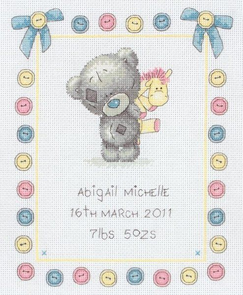 Anchor Me to You Tatty Teddy Tiny Tatty Ted Birth Sampler TTT0002