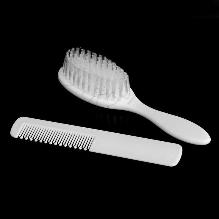 NEW 2Pcs Safety Soft Baby Hair Brush Set Infant Comb Grooming Shower Design Pack Kit