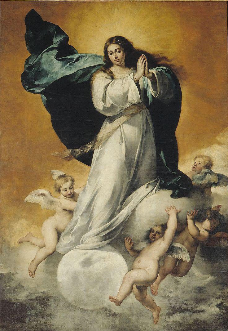 la inmaculada concepcion de jesus virgen maria | MURILLO, Bartolomé. Inmaculada Concepción (La Colosal). 1650