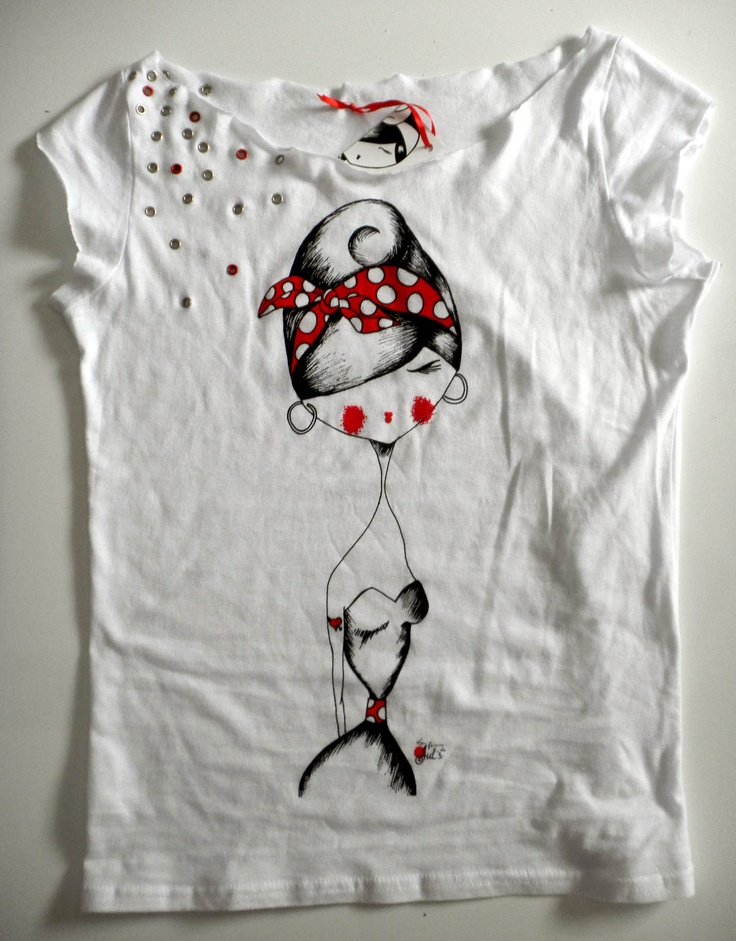 M s de 1000 im genes sobre camisetas pintadas a mano en - Pintura para camisetas ...