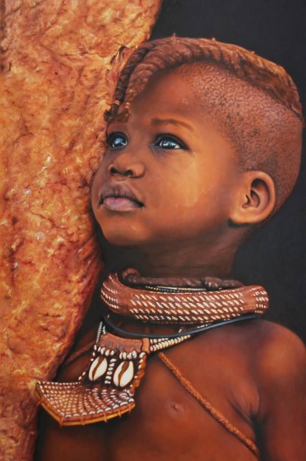 Africa, Little Himba  by Carol Marocco