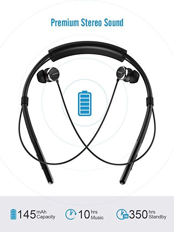 8f270f30d40 Amazon.com: Neckband Bluetooth Headphones, Meidong Active Noise Cancelling  Earbuds Sport Wireless Headset with Deep Bass HD Stereo, Built-in Mic, ...