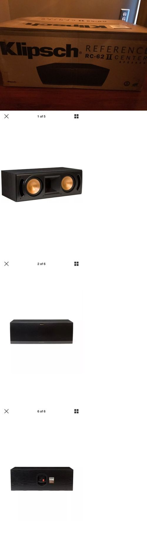 Home Speakers and Subwoofers: Klipsch Rc-62 Ii Center Speaker BUY IT NOW ONLY: $274.0