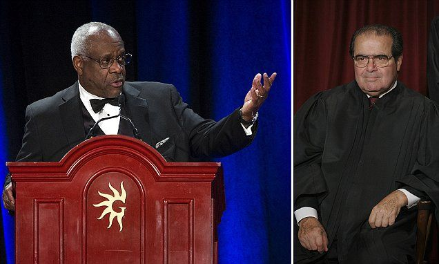 Justice Thomas calls conservatives to continue Scalia's work #DailyMail.. great!
