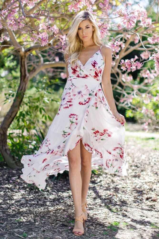 984f606b6 33+ Vestidos Floreados de Moda 2018
