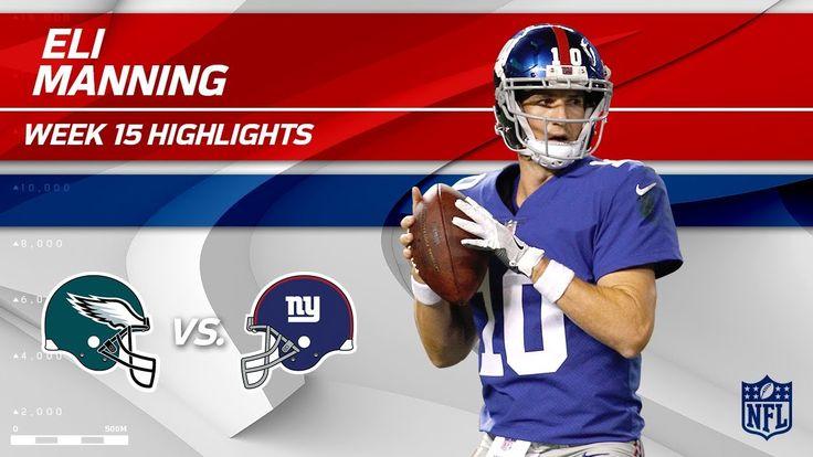 Eli Manning Highlights | Eagles vs. Giants | NFL Wk 15 Player Highlights - NFL News Videos