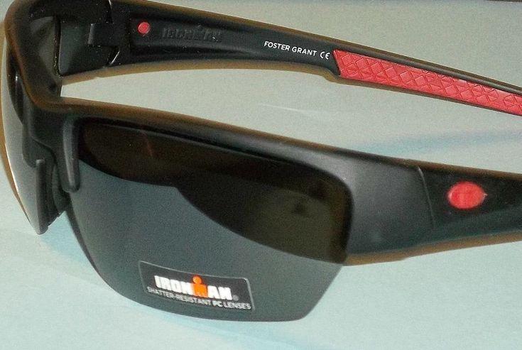 Ironman Unisex Mat Black Rubberized Semi Rimless Sunglasses Shatter Resistant #2 #FosterGrant #Rectangular