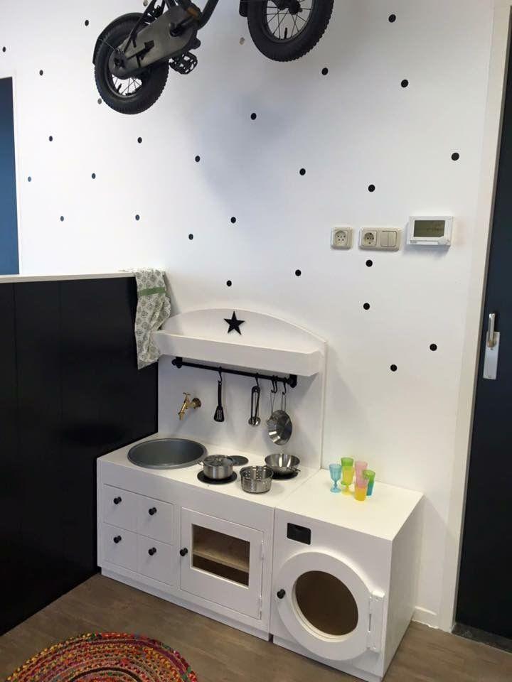 Keukentje zwart wit