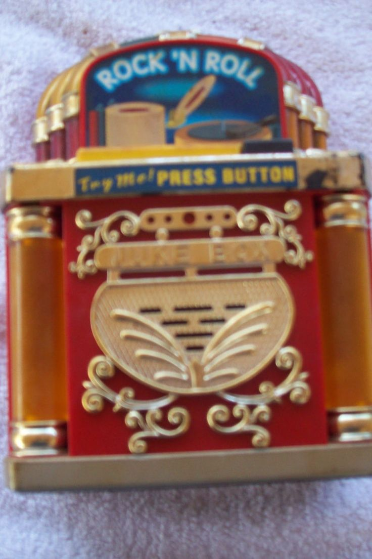 1996 Fun Rise Inc. Vintage  Rock n Roll Juke Box Bank WORKS GREAT...three AA batteries not included by TammiesVintageStore on Etsy