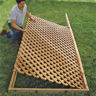 how to build a trellis for vines
