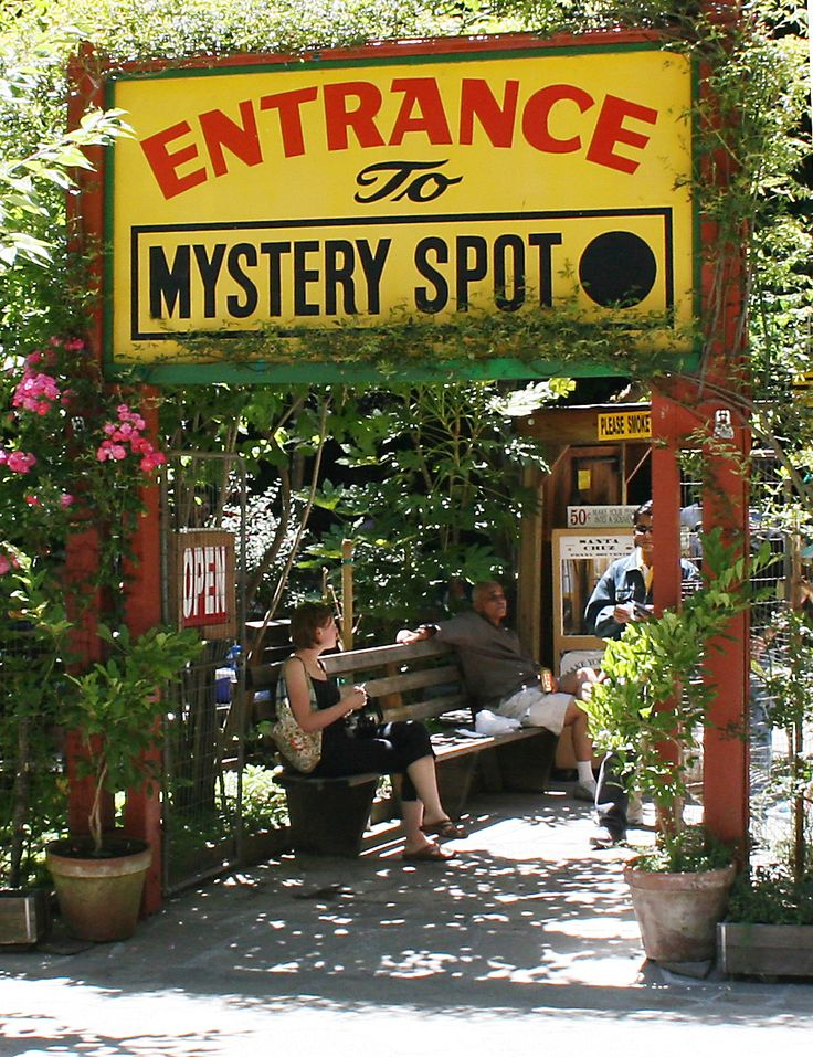 Dotted across America, there exist a handful of places where the laws of nature don't seem to apply. Compasses spin wildly, vegetation refuses to grow, water flows uphill, and people, well, they just start to feel really weird. The Mystery Spot in Santa Cruz, California, is one of those places.