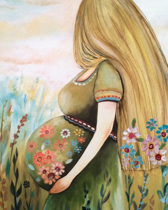 Mother to be art print