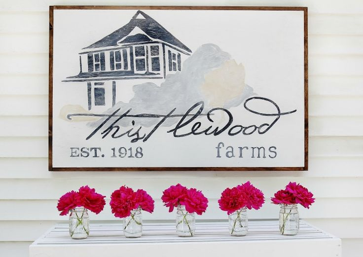 DIY How To Paint A Vintage Farmhouse Sign ! By Thistlwood Farms