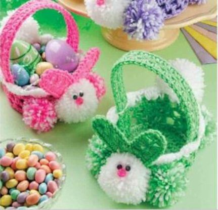 40 Best Easter Free Crochet Patterns Images On Pinterest Crochet Delectable Free Crochet Easter Basket Patterns