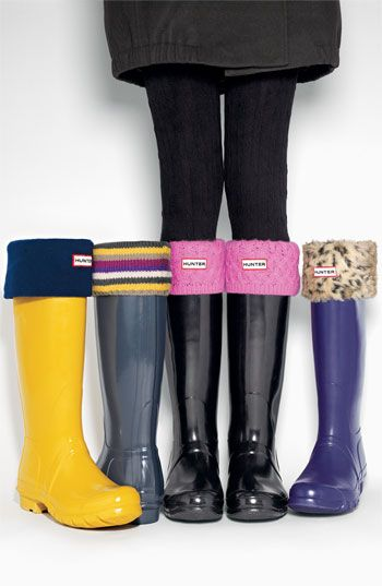 Hunter Fleece Welly Sock | Nordstrom k kool..now I want two pair of rainboots