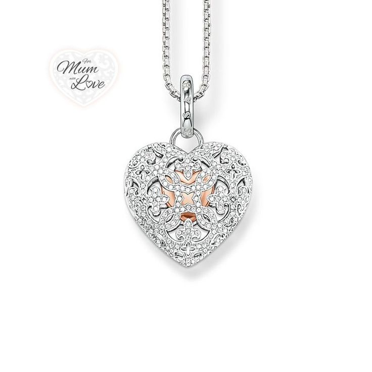 Open Your Heart amulet: a small #heart with 18k rose gold plating makes this fabulous amulet a truly special gift for your #mum! #muttertag #mothersday #mom