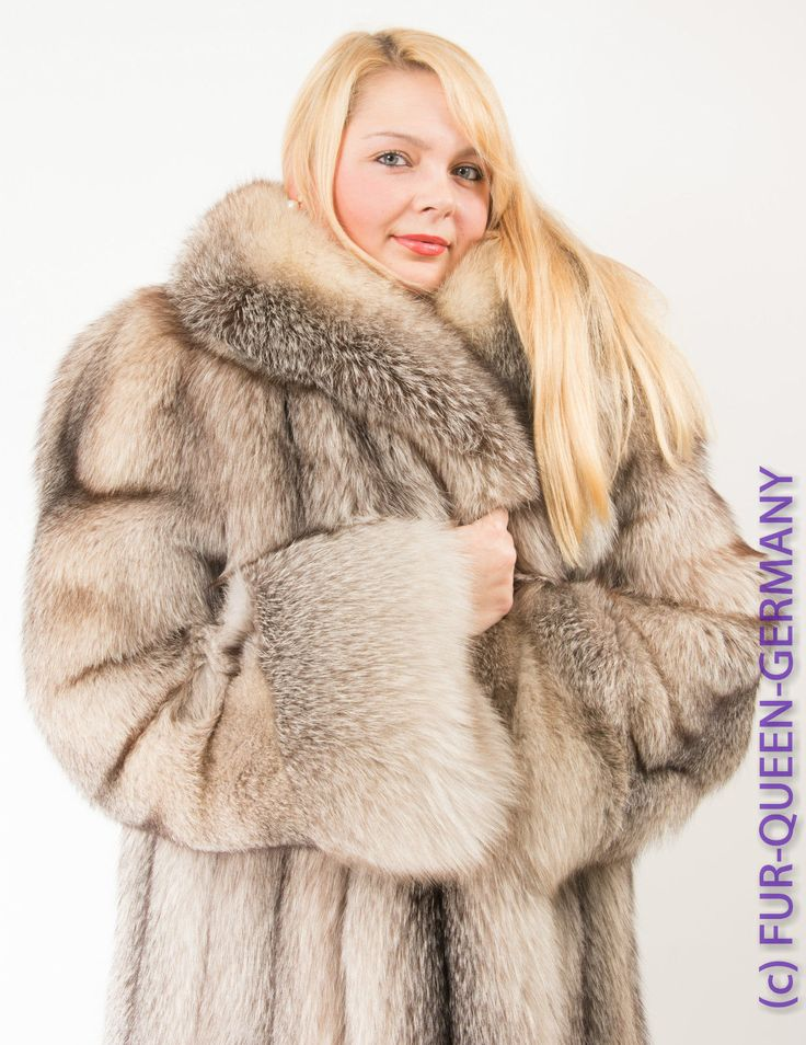 D 233 Tails Sur Luxory Silver Saga Fox Fur Coat Renard Manteau
