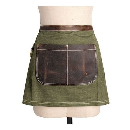Canvas/Leather Half Apron – Olive                                                                                                                                                                                 Mehr