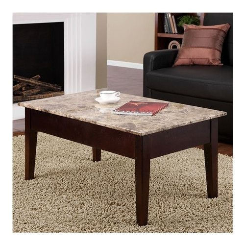 Dorel living coffee table with lift top apartment for Table cuisine 75 x 75