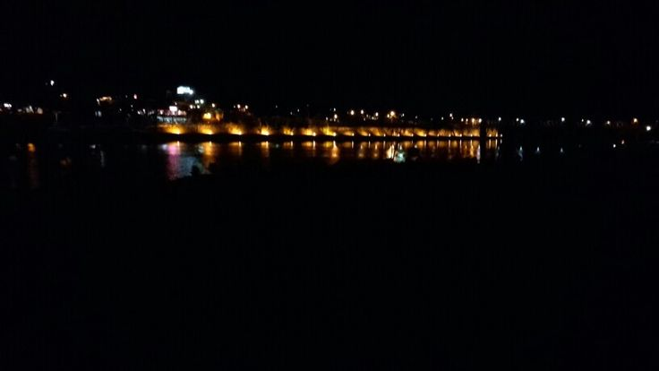 Bundaberg, Qld at night across the river...home to ginger beer and rum