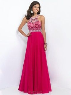 Scoop Neck Open Back Chiffon Tulle Sequins Claret Floor-length Prom Dresses -$219.39