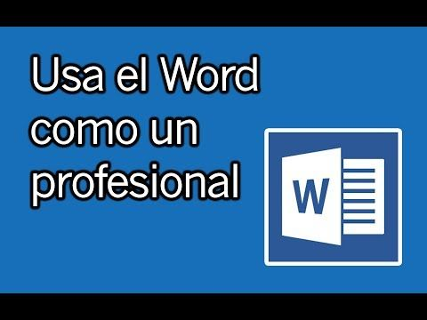 Haz trabajos, tesis, documentos profesionales y más con WORD - YouTube