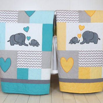 yellow and grey cot bedding - Google Search
