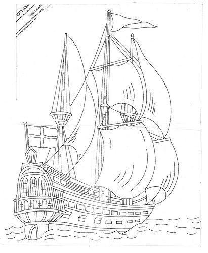 filografi için uygun çizim Pirate Ship gemi, yelkenli savaş gemisi, korsan gemisi galleon
