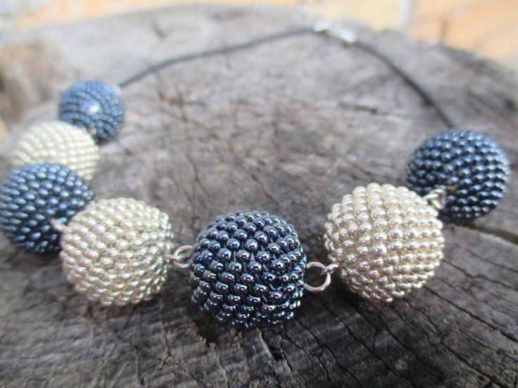Bracelet with handmade beaded balls https://www.facebook.com/sperkymari/