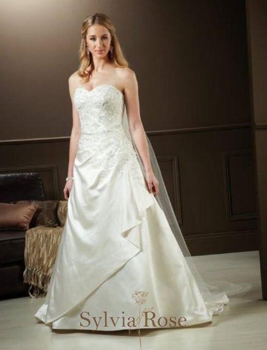 Sylvia Rose | Style Sapphire | Top seller | Wedding gown | Bridal dress | Sweet heart neckline |