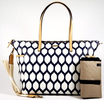Kate Spade Navy and White Diaper Bag- bc I'm fancy :)