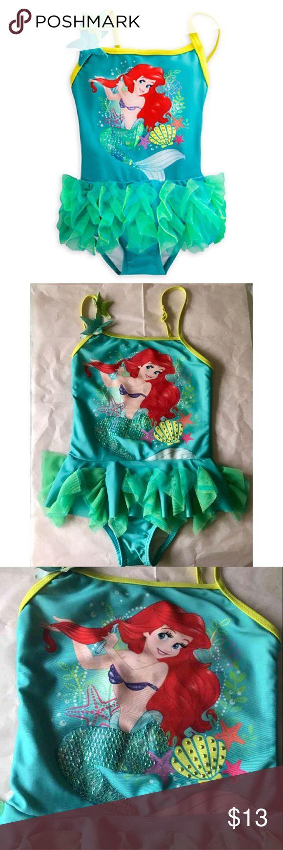 Little mermaid bathing suit Size 5/6 little girls Disney one piece. In good condition Disney Swim One Piece