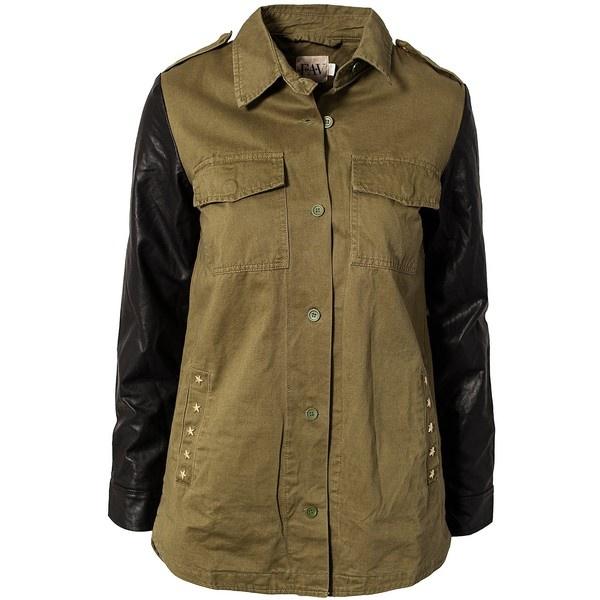 F.A.V Army Peace Jacket ($175) ❤ liked on Polyvore