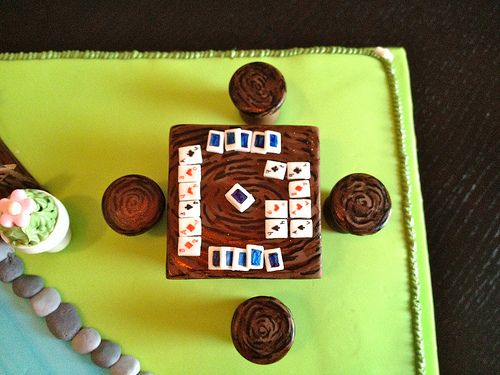 Bridge Card Game Cake | Vanilla Sponge Cake, Buttercream & S… | Flickr