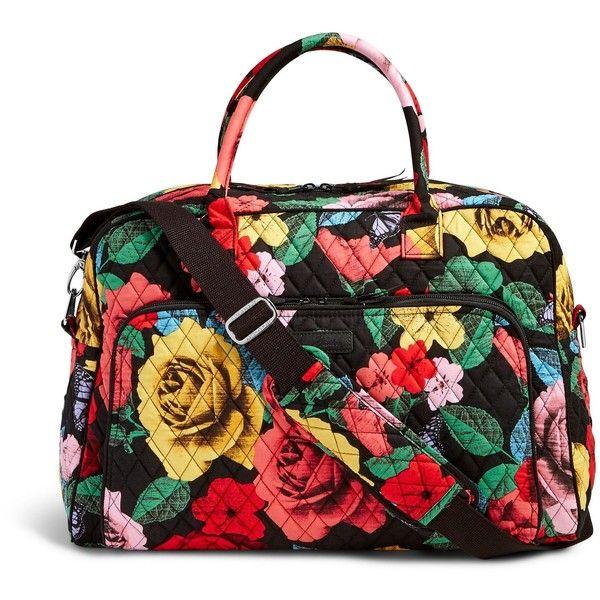 Vera Bradley Weekender Travel Bag ($98) ❤ liked on Polyvore featuring bags, luggage and havana rose