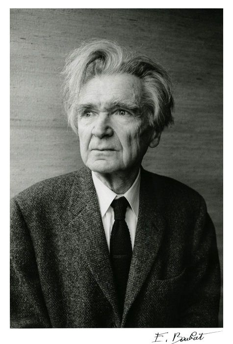 Emil Cioran (1911-1995) - Romanian philosopher and essayist, who published works in both Romanian and French. Photo Paris, 1989 by Édouard Boubat