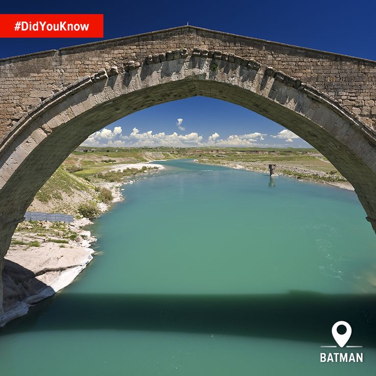 #DidYouKnow the Malabadi Bridge over the Batman River dates to the 12th century, and the original may even have been 7th century? #HomeOf #Batman