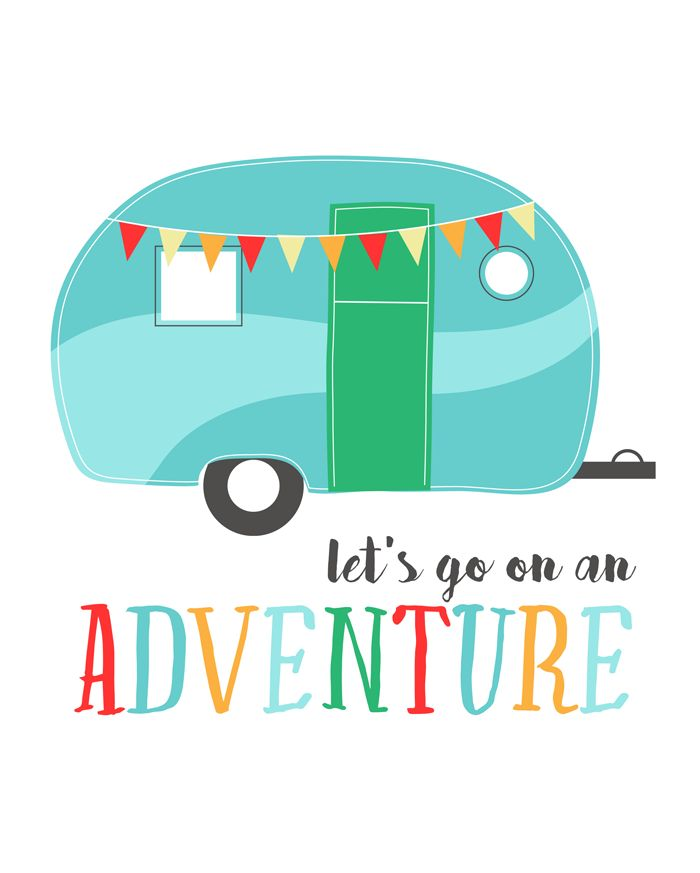 Free Let's Go On An Adventure Printable